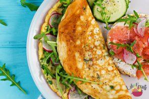 Omelette Tomate Basilic